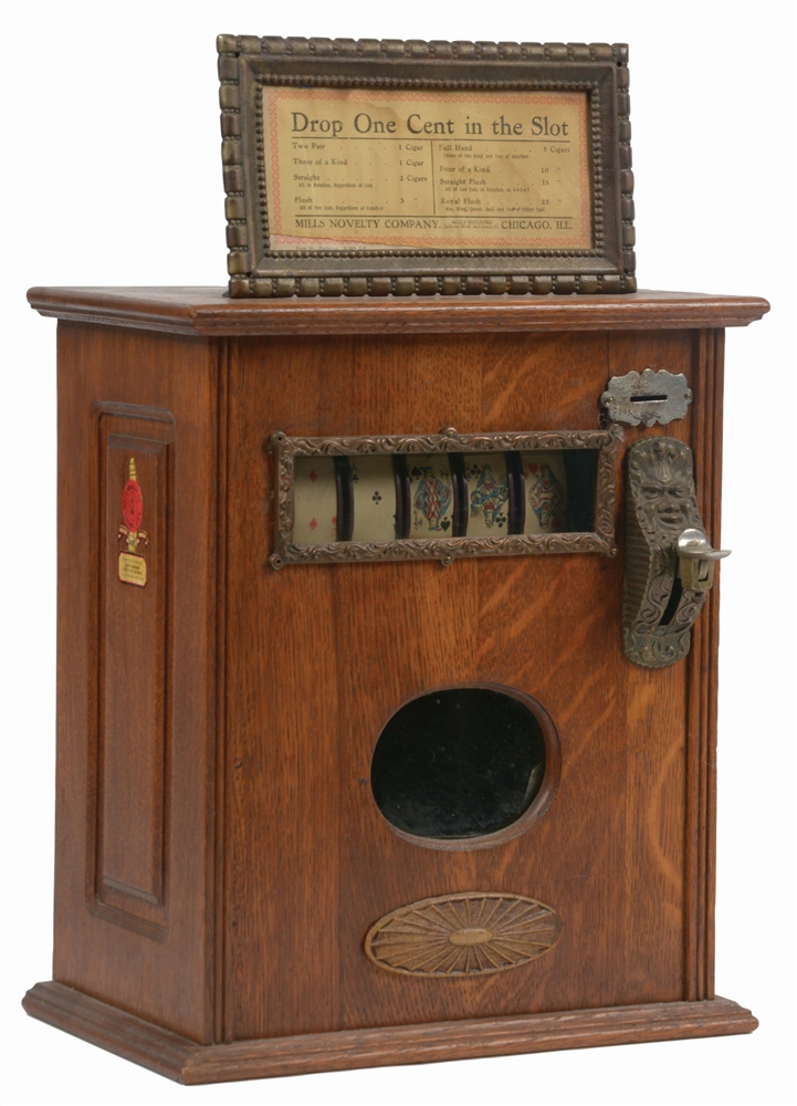1¢ MILLS UPRIGHT LITTLE PERFECTION CIGAR TRADE STIMULATOR.
