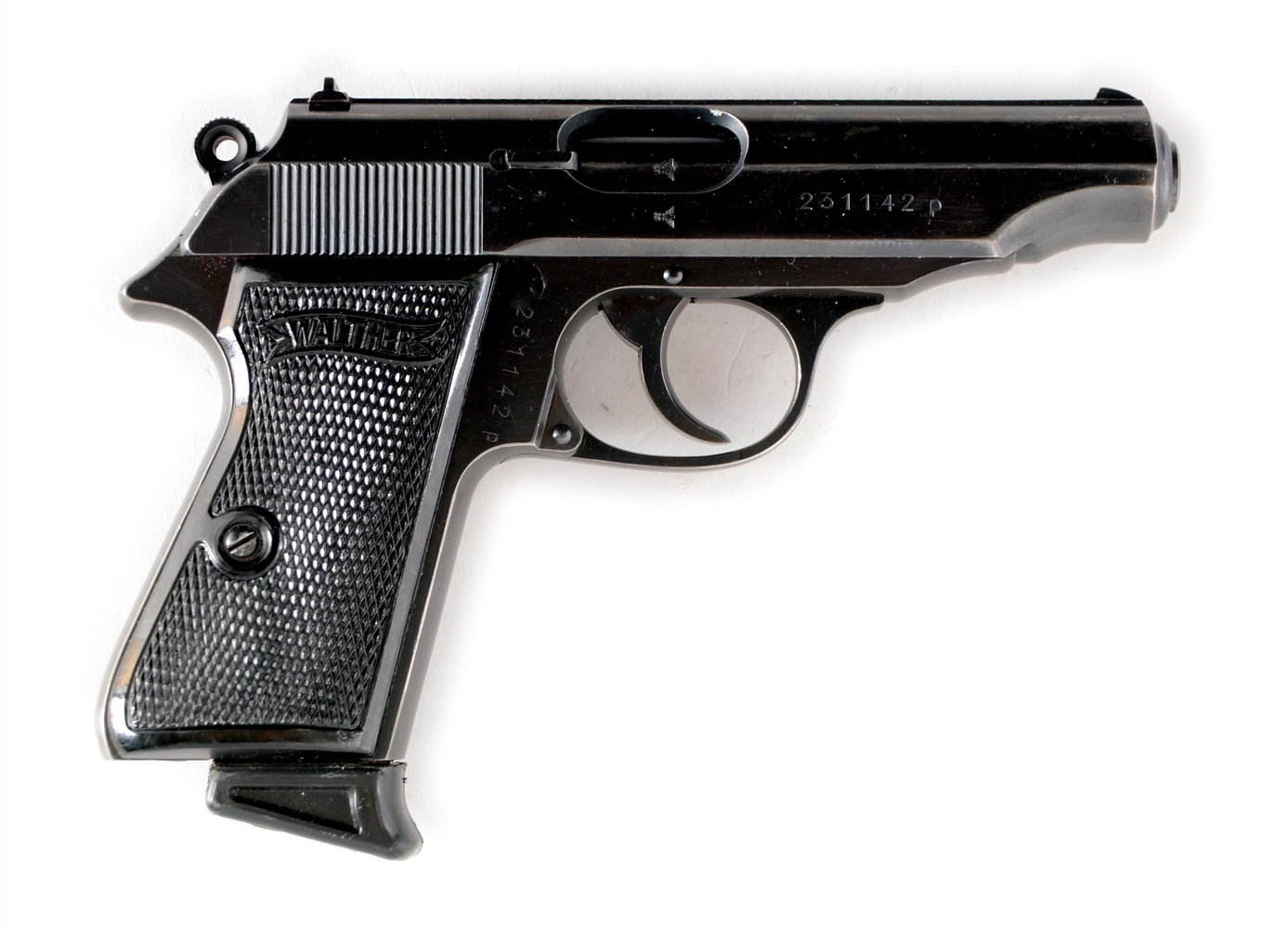 (C) NAZI MARKED WALTHER PP SEMI-AUTOMATIC PISTOL.