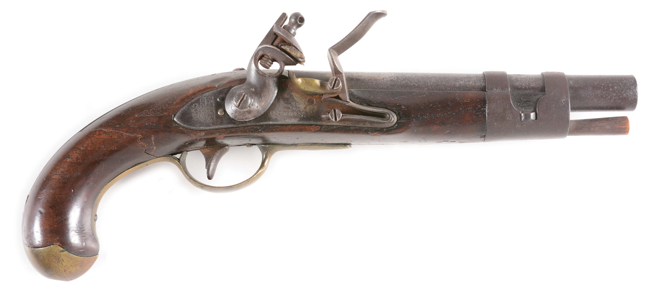 (A) A SCARCE US NORTH BERLIN MODEL 1811 TRANSITIONAL MODEL WITH 1812 MODIFICATION AND IRON DOUBLE STRAP BARREL BAND.