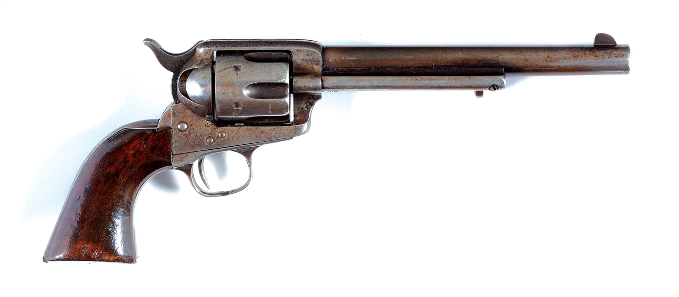 (A) FINE AINSWORTH INSPECTED US COLT CAVALRY SINGLE ACTION ARMY REVOLVER (1874).