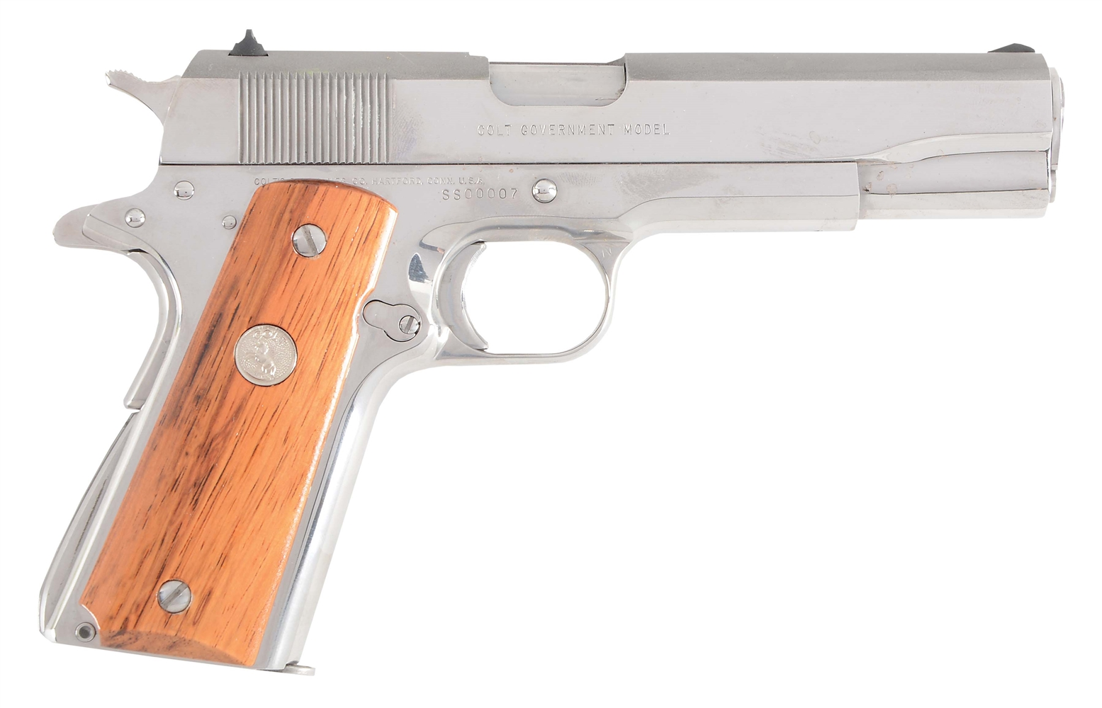 (C) BOXED COLT CUSTOM GUN SHOP MODEL 1911-A1 SILVER STAR SEMI-AUTOMATIC PISTOL.