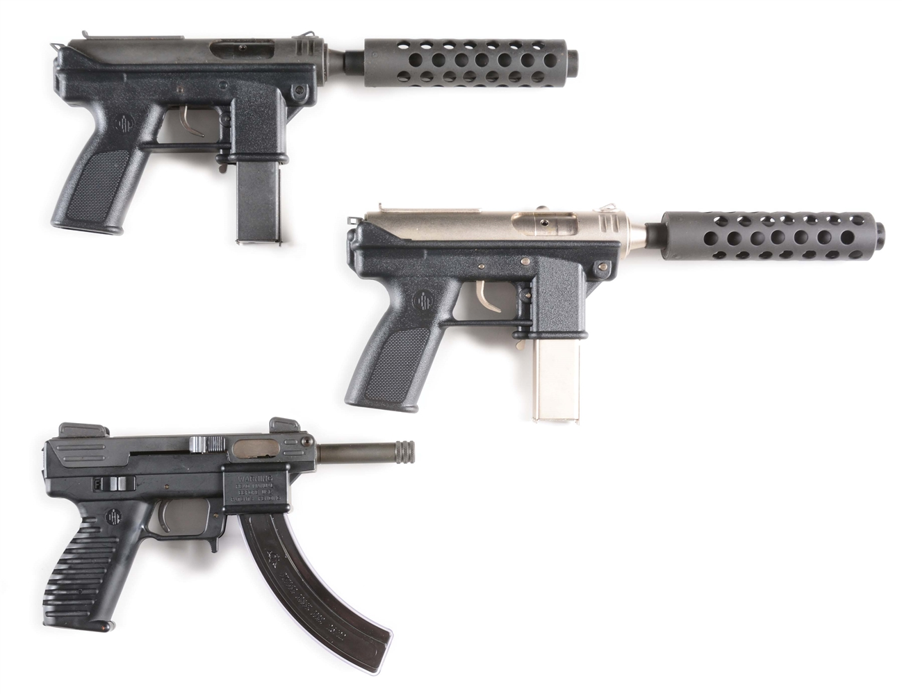 (M) LOT OF THREE: THREE INTRATEC SEMI-AUTOMATIC PISTOLS, TWO DC-9M AND ONE TEC-22.