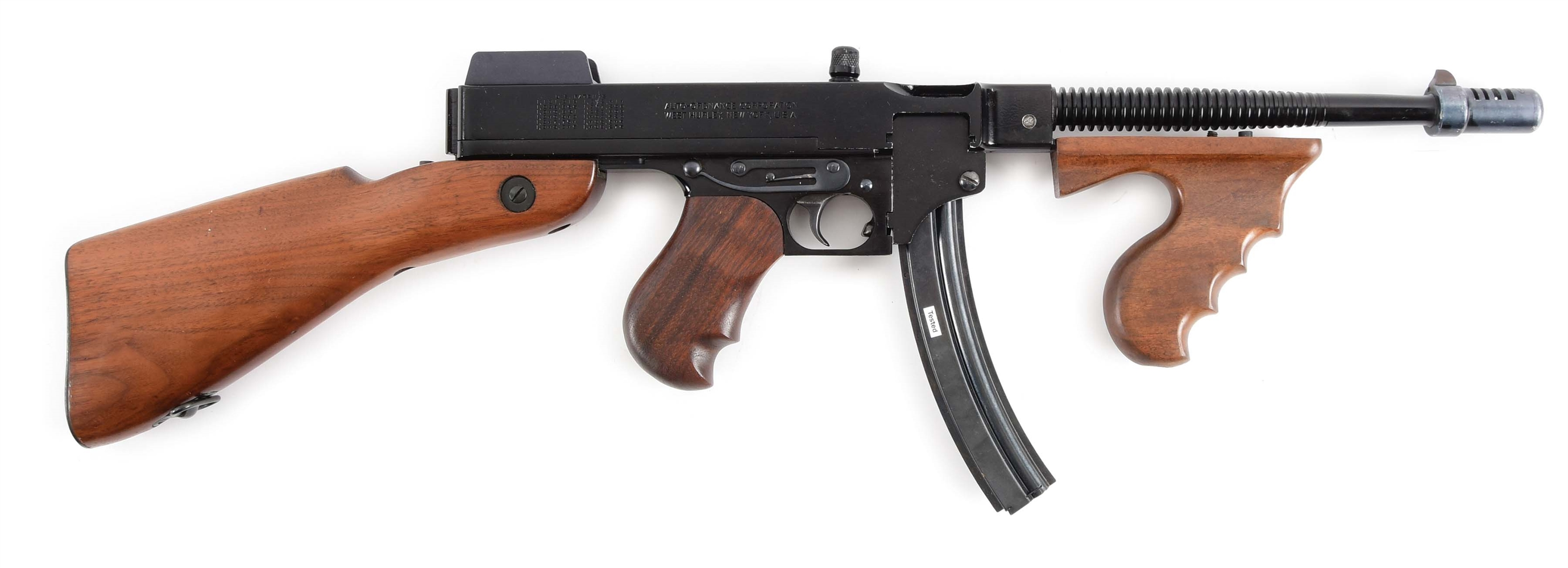 (N) SCARCE AND POPULAR AUTO ORDNANCE MODEL 1928 A22 THOMPSON MACHINE GUN IN .22 LR (CURIO AND RELIC).