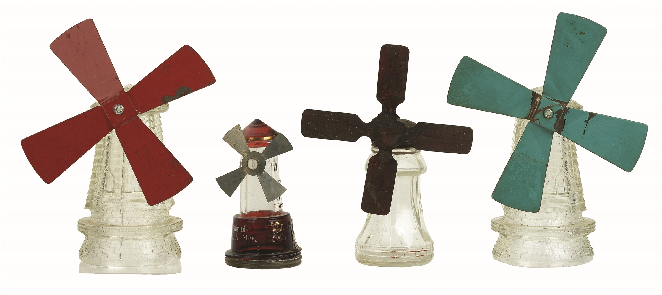 Lot of 4: Windmill Candy Containers.