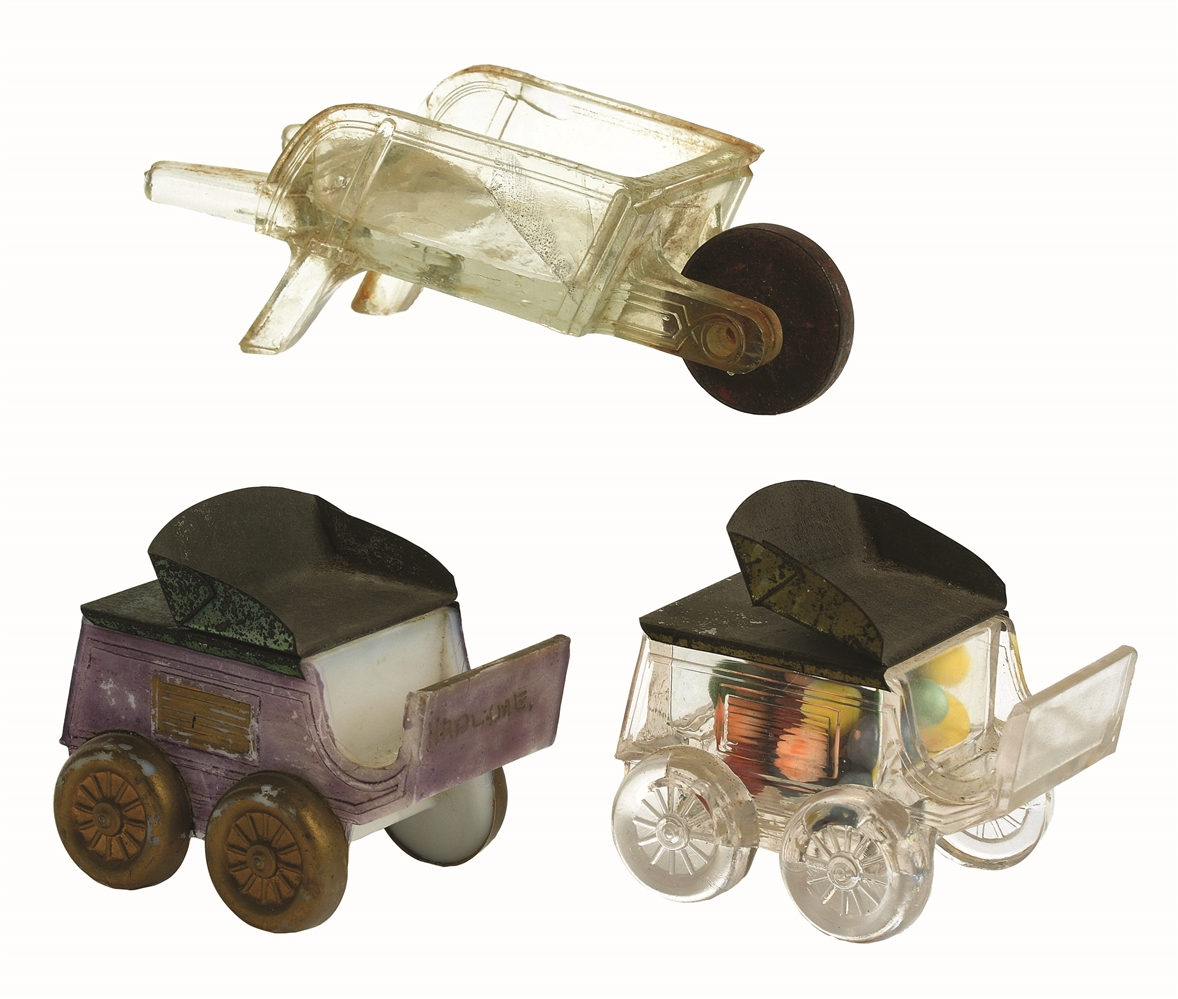 Lot of 3: Wagon Candy Containers.