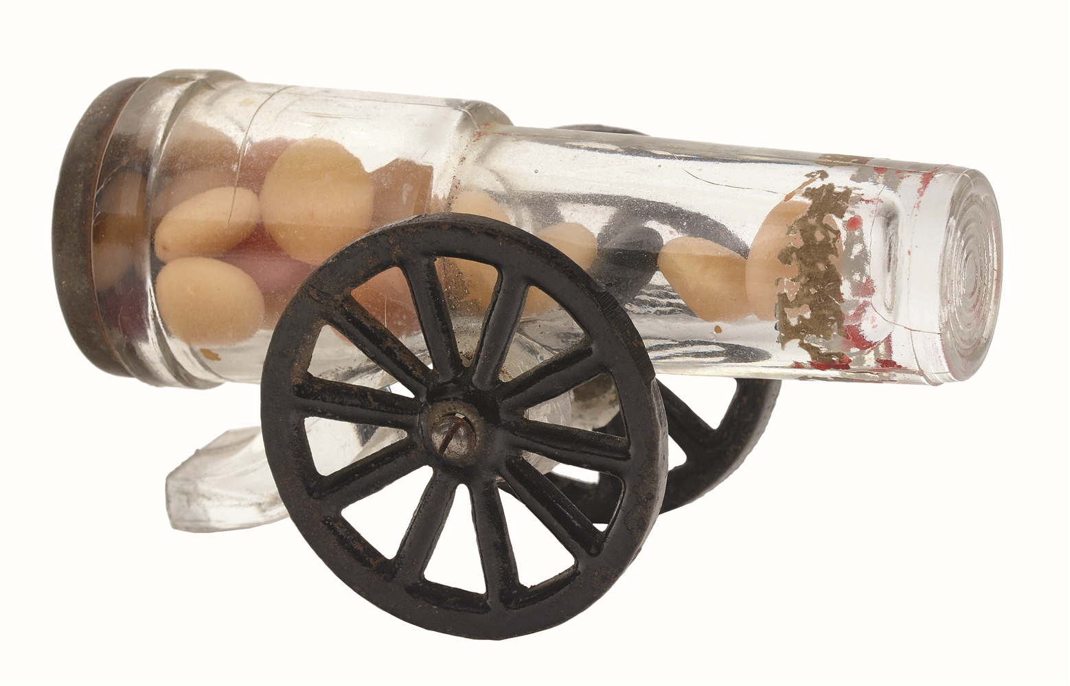 Two-Wheel Mount Cannon Candy Container.