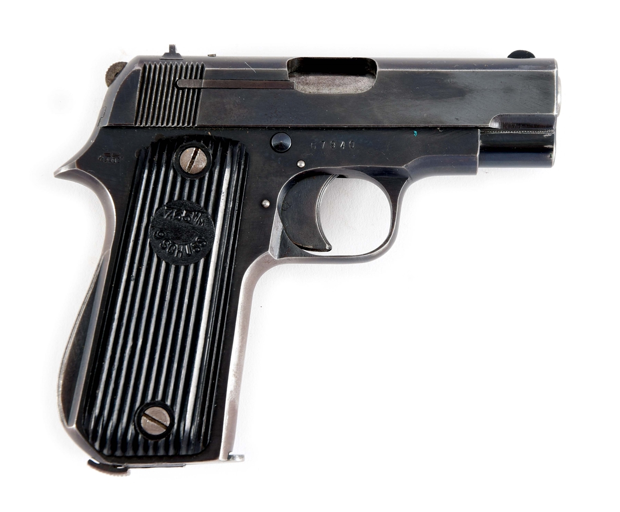 (C) GERMAN UNIQUE KRIEGSMODELL 7.65 SEMI-AUTOMATIC PISTOL WITH HOLSTER