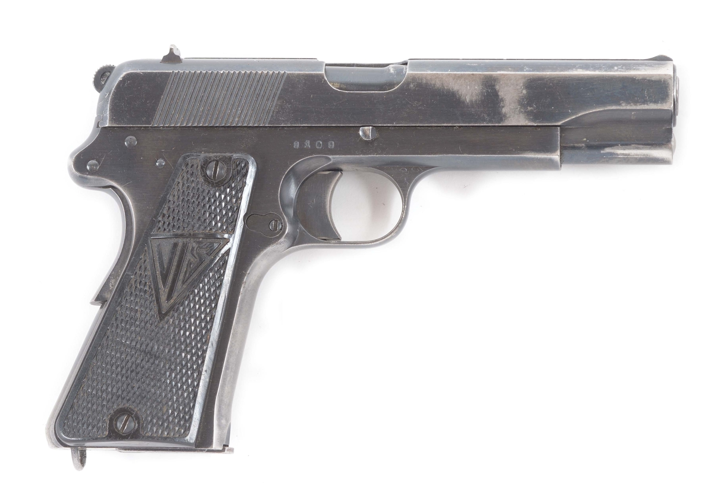 (C) HIGH POLISH GERMAN INSPECTED SLOTTED POLISH P-35 RADOM SEMI-AUTOMATIC PISTOL WITH HOLSTER.