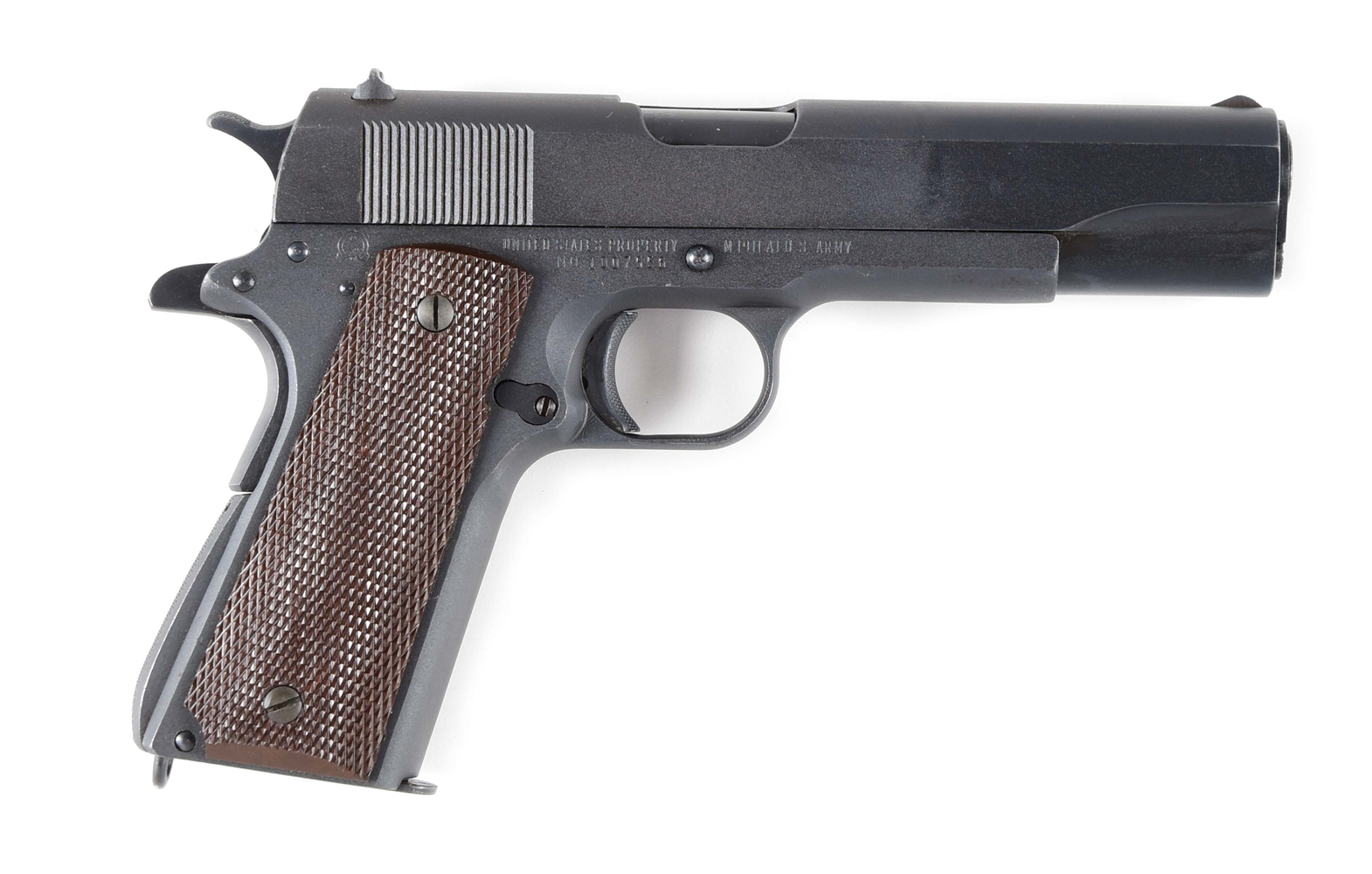 (C) US 1911A1 .45 AUTOMATIC BY REMINGTON RAND, SERIAL 1007556.