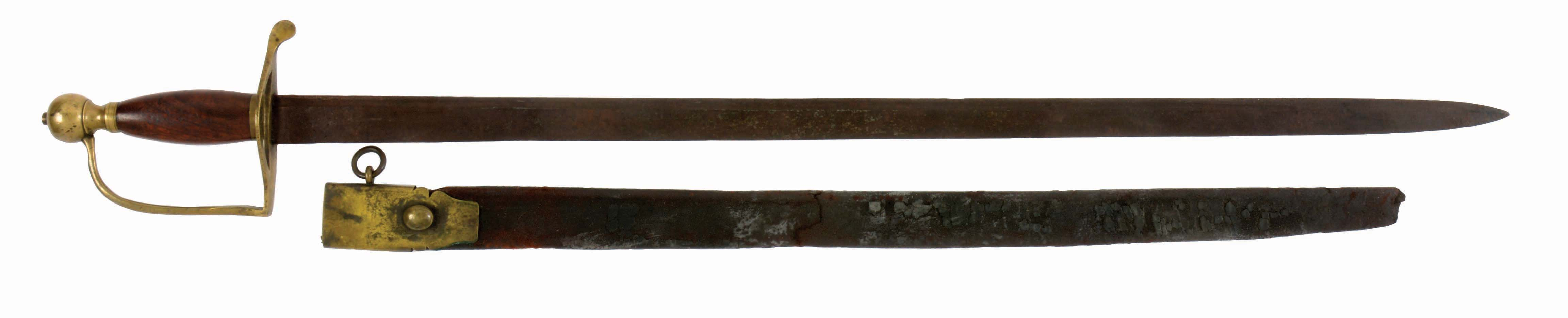 RARE ROSE NON-COMMISSIONED ARTILLERY OFFICER'S SWORD WITH SCABBARD.
