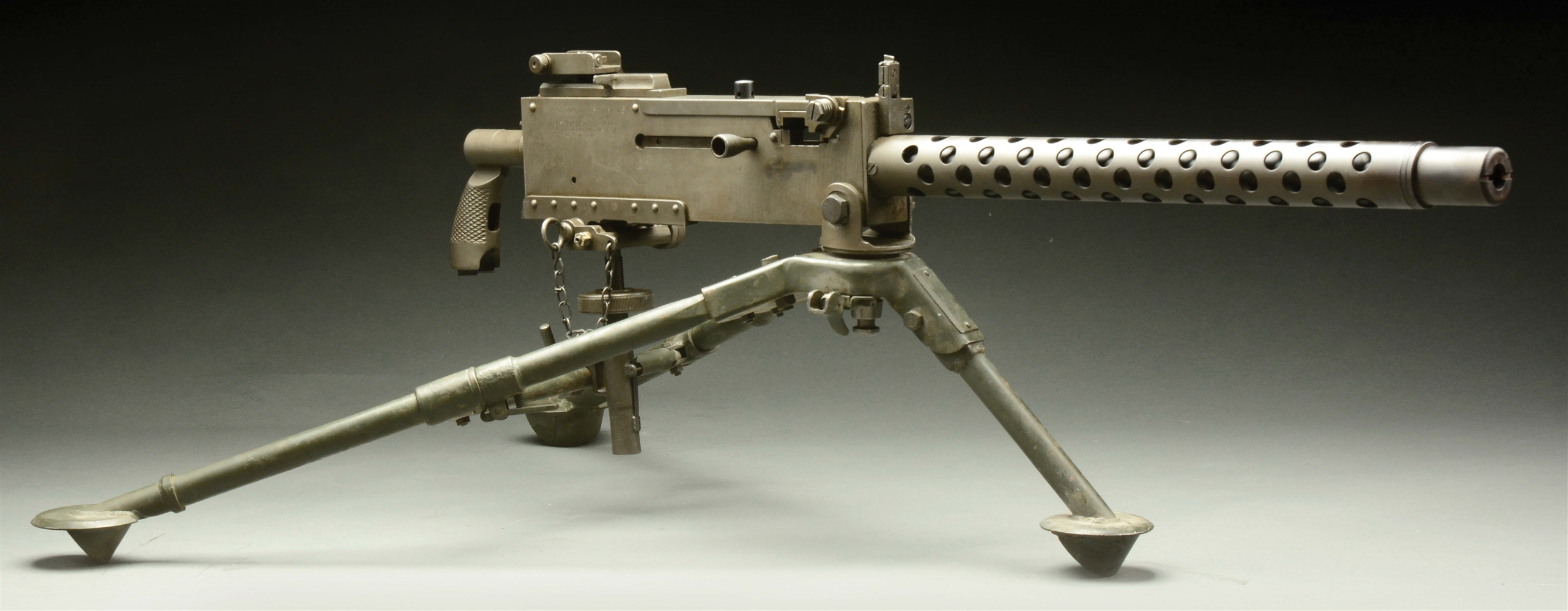 (N) EXTERMELY FINE RICHARD M. DAVIS REGISTERED SIDEPLATE BROWNING 1919A4 MACHINE GUN ON TRIPOD (FULLY TRANSFERABLE)