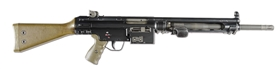 (N) NEAR MINT CONDITION DYER MANUFACTURED HECKLER AND KOCH HK21 BELT FED MACHINE GUN (FULLY TRANSFERABLE).