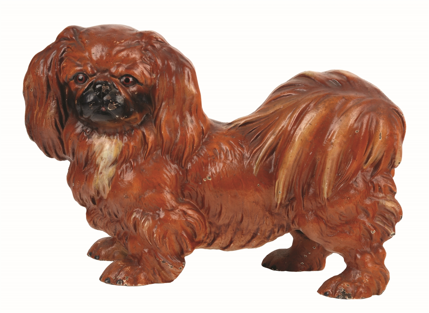 CAST-IRON PEKINESE DOG DOORSTOP.