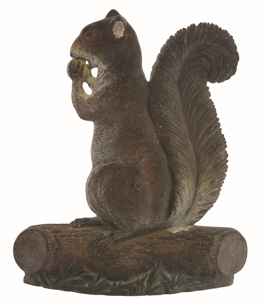 CAST-IRON SQUIRREL B&H DOORSTOP.
