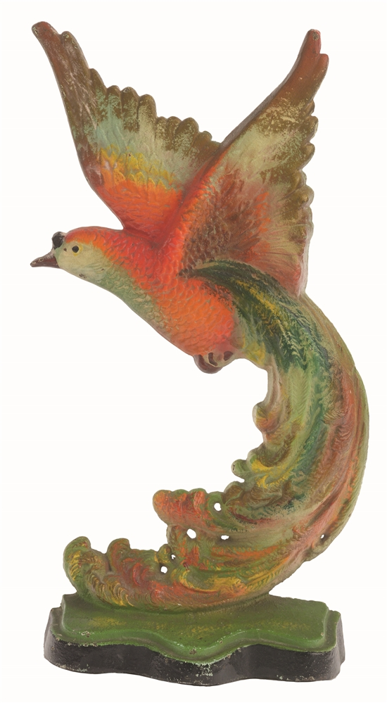 CAST-IRON BIRD OF PARADISE DOORSTOP.