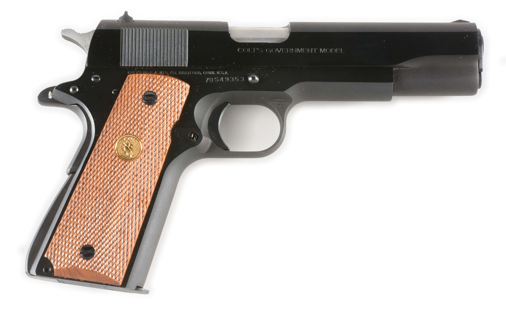 (M) COLT GOVERNMENT MODEL MARK IV SERIES 70 SEMI-AUTOMATIC PISTOL IN BOX.