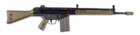 (N) ATTRACTIVE FLEMING REGISTERED GREEN FURNISHED HECKLER & KOCH G3A2 MACHINE GUN (FULLY TRANSFERABLE).