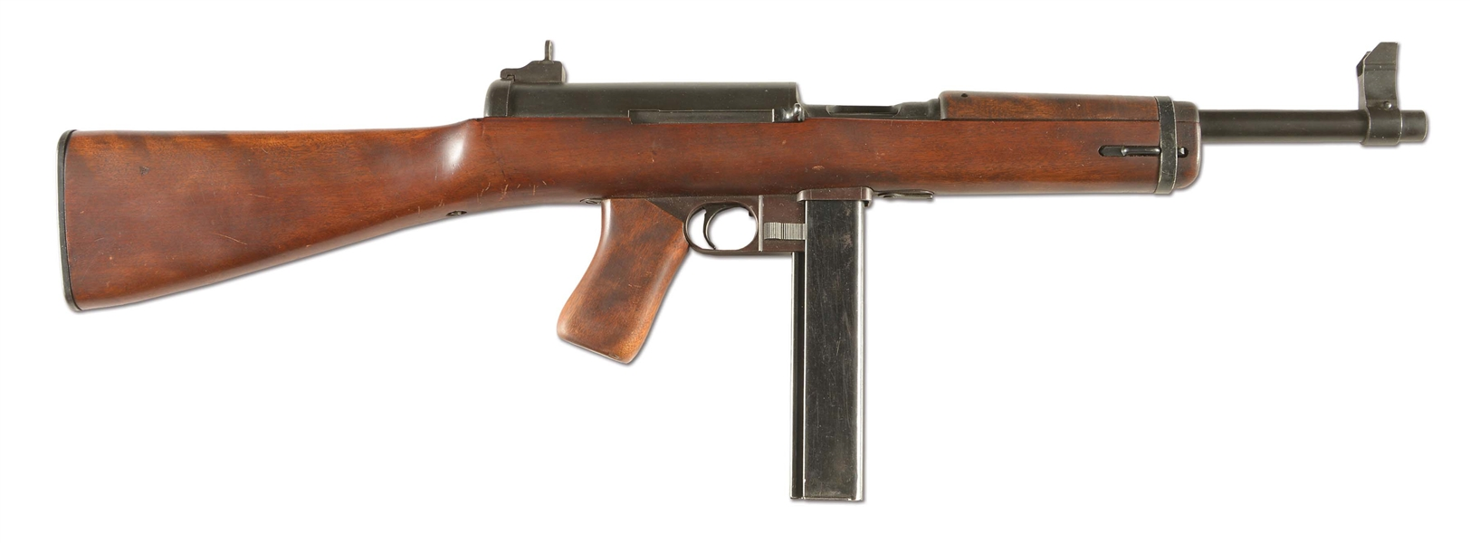 (N) EXCEPTIONALLY RARE U.S. MILITARY SUCCESSOR TO M1A1 THOMPSON MARLIN MANUFACTURED M2 MACHINE GUN (CURIO AND RELIC).