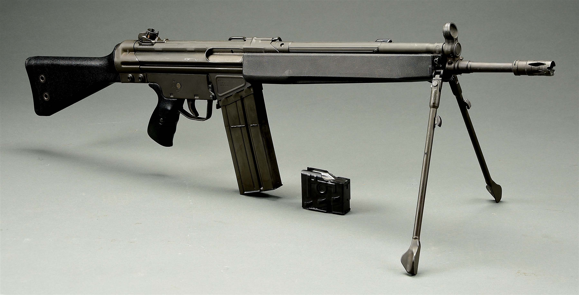 (N) HECKLER & KOCH G3 MACHINE GUN AS CONVERTED BY GROUP INDUSTRIES FROM HK-91 (FULLY TRANSFERABLE).