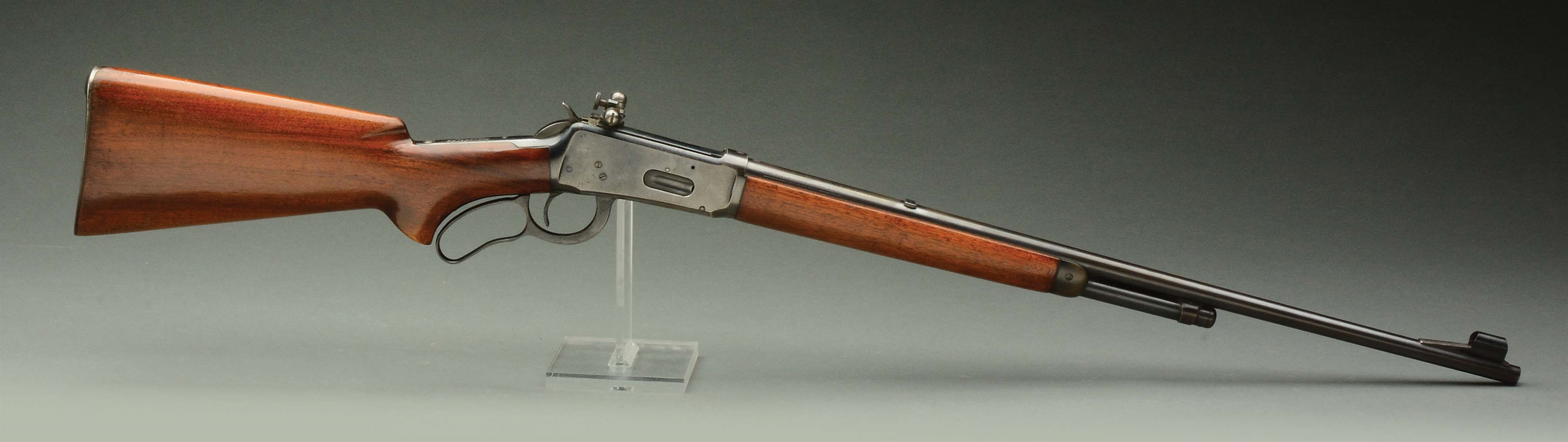 (C) PRE-WAR WINCHESTER MODEL 64 LEVER ACTION RIFLE.