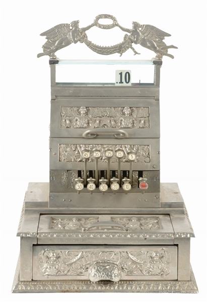 CAST IRON CHICAGO CANDY STORE REGISTER.