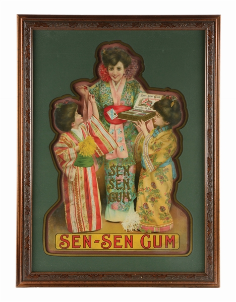 LARGE DIE-CUT SEN SEN GUM SIGN.
