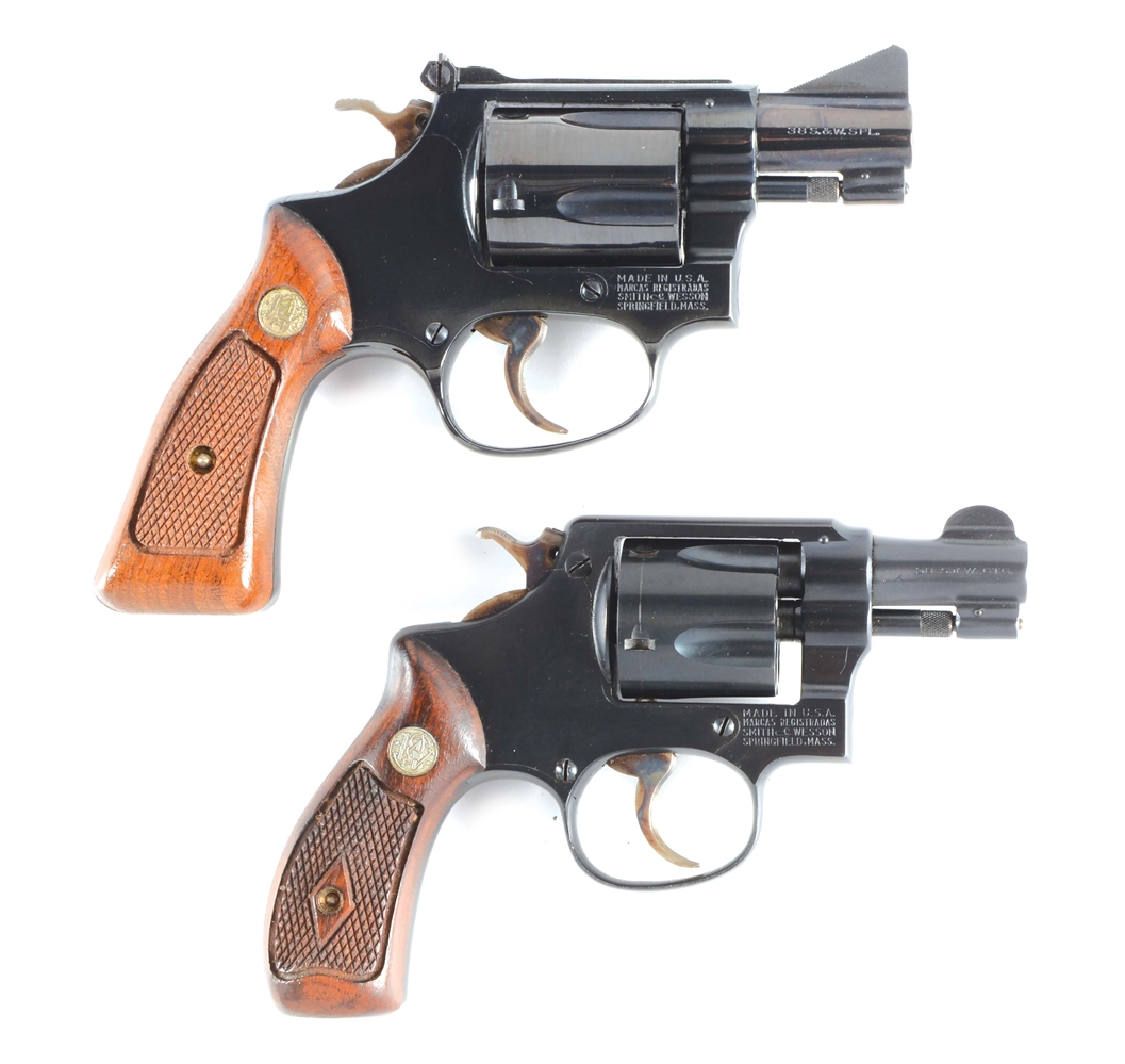 (M) LOT OF 2: SMITH & WESSON REVOLVERS.