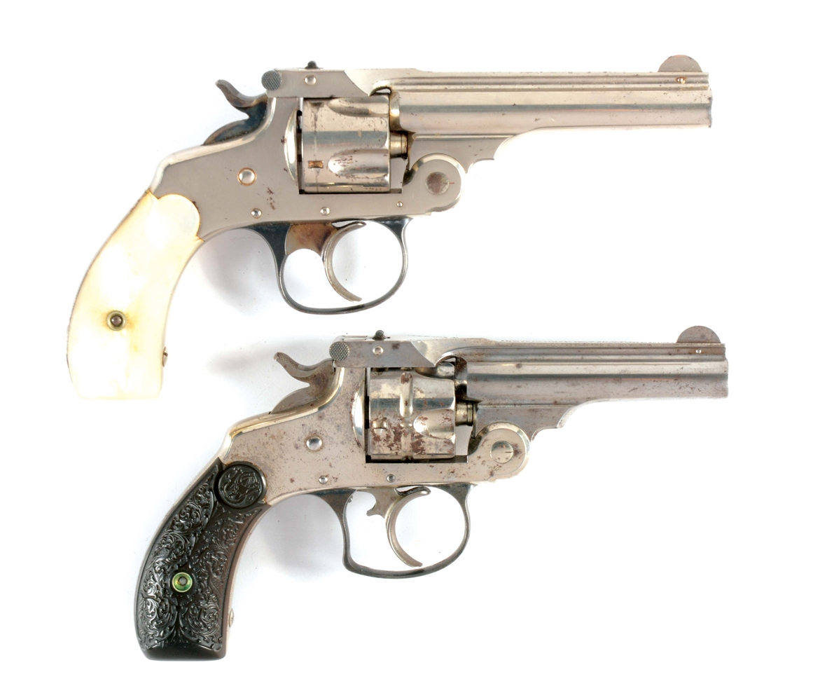 (C) LOT OF 2: SMITH & WESSON REVOLVERS.