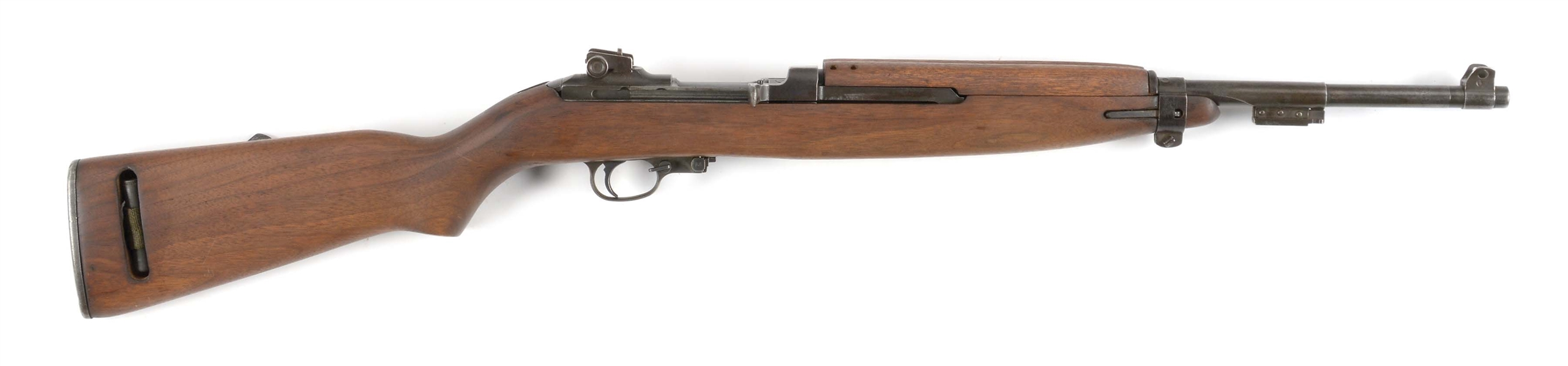 (C) INLAND M1 CARBINE SEMI AUTOMATIC RIFLE.