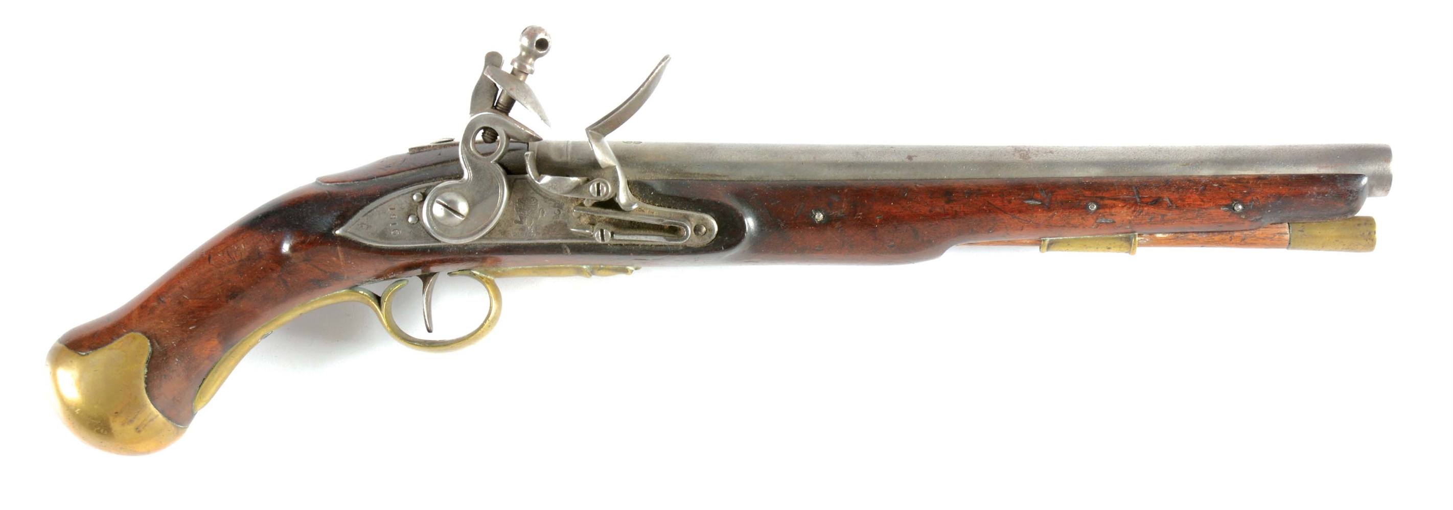 (A) EAST INDIA COMPANY BRITISH FLINTLOCK SEA SERVICE PISTOL.