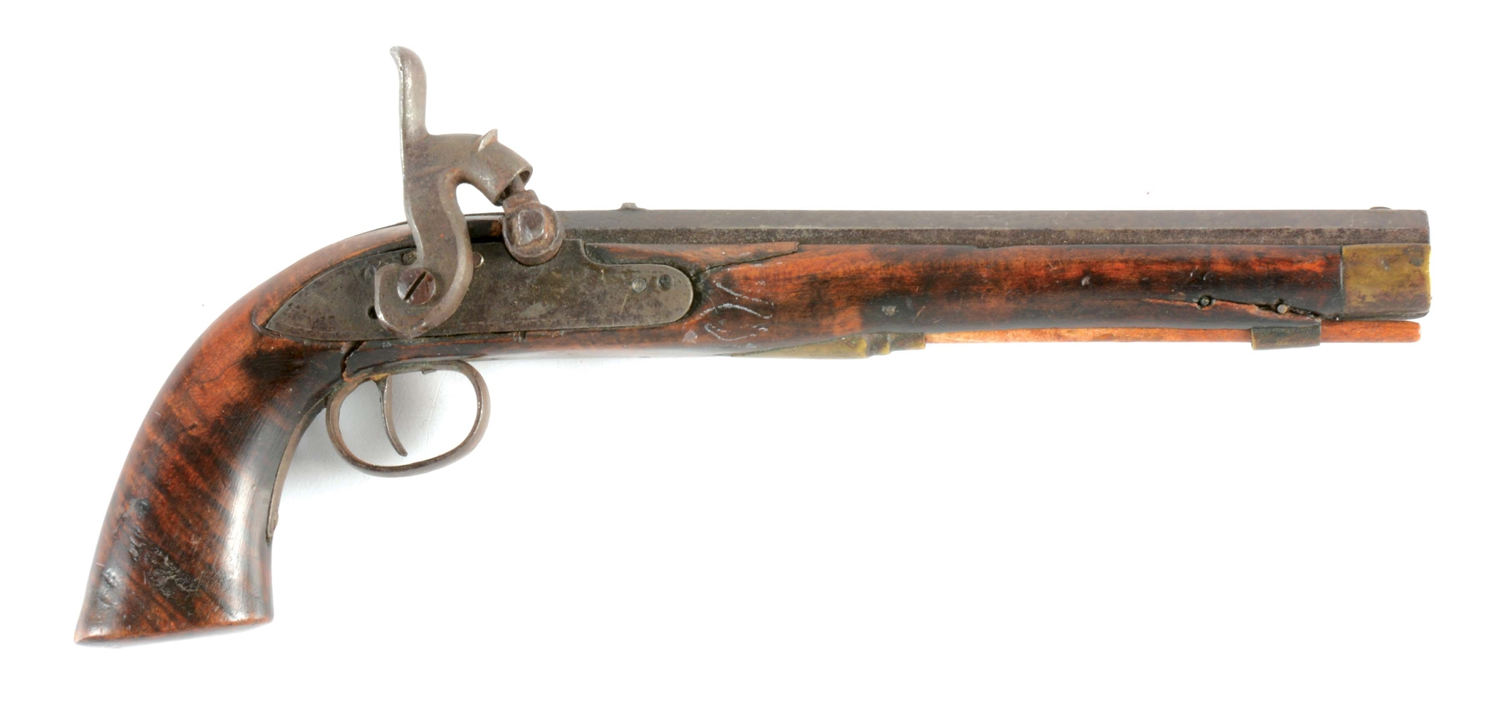 (A) PERCUSSION KENTUCKY PISTOL.