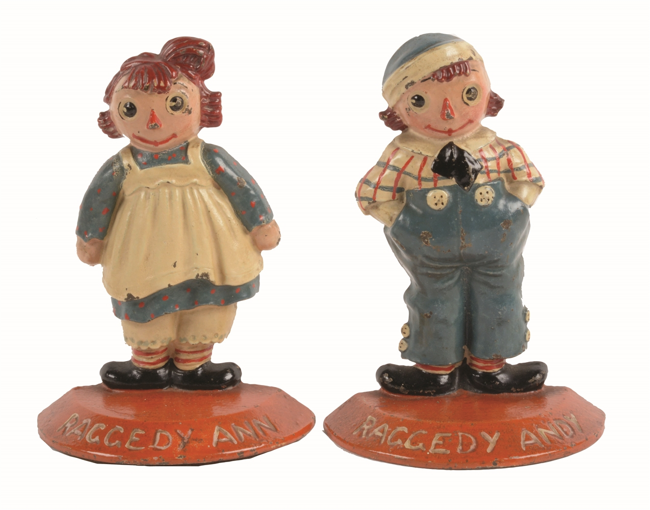 RAGGEDY ANN & ANDY BOOKENDS.