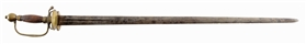 REVOLUTIONARY WAR OFFICERS SMALL SWORD WITH MARKED BLADE.