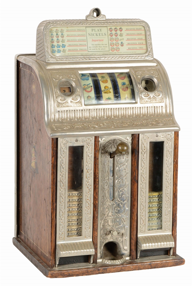 5¢ CAILLE BROTHERS VICTORY BELL GUM FRONT SLOT MACHINE.
