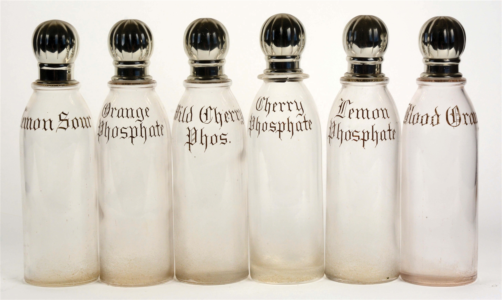 LOT OF 6: EARLY SYRUP BOTTLES.