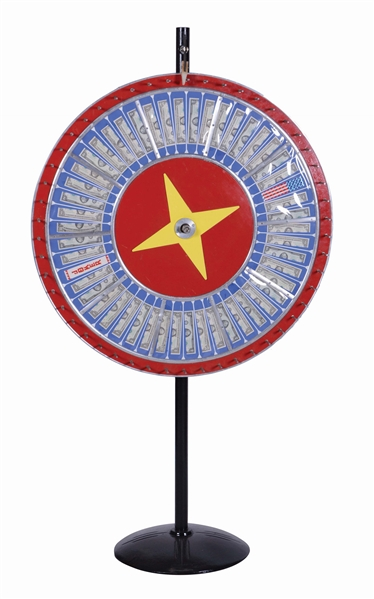 "42"" VERTICAL GAMBLING WHEEL."
