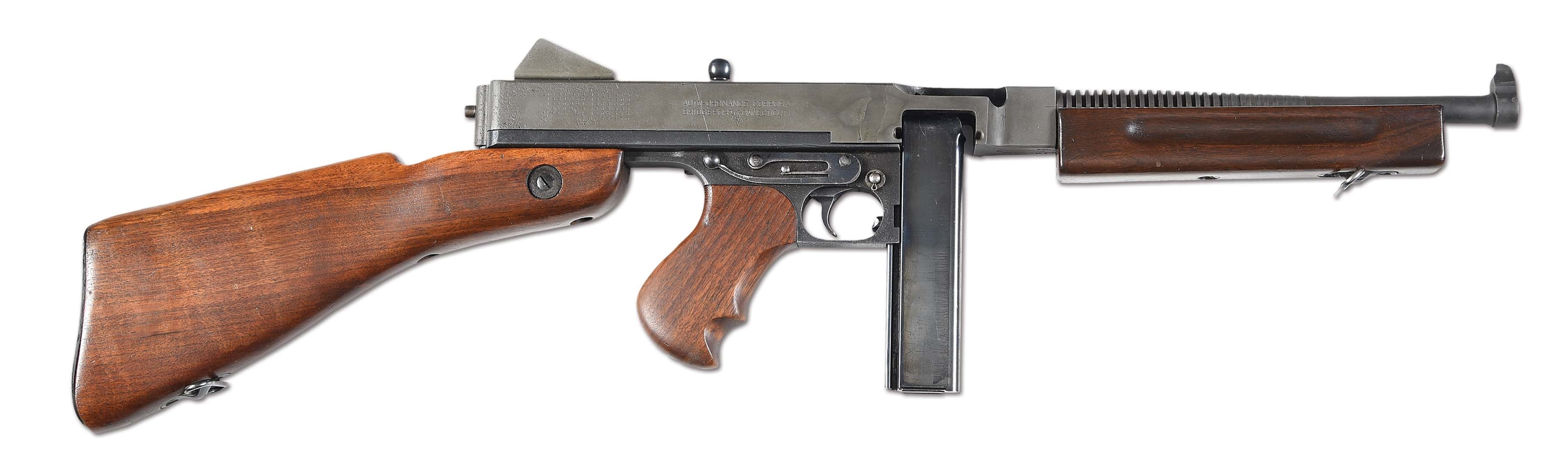 (N) US MODEL 1928A1 THOMPSON MACHINE GUN BY AUTO-ORDNANCE, BRIDGEPORT (CURIO AND RELIC).