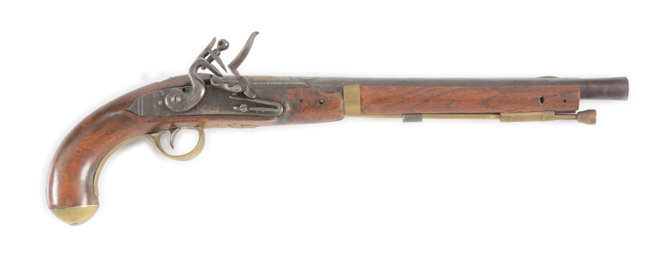 (A) ASSEMBLED FLINTLOCK PISTOL.