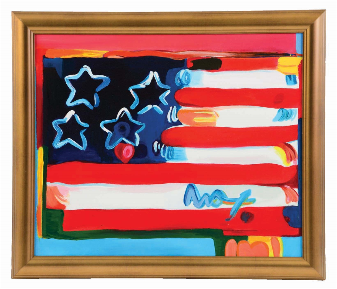 PETER MAX (AMERICAN, B. 1937) THE AMERICAN FLAG.