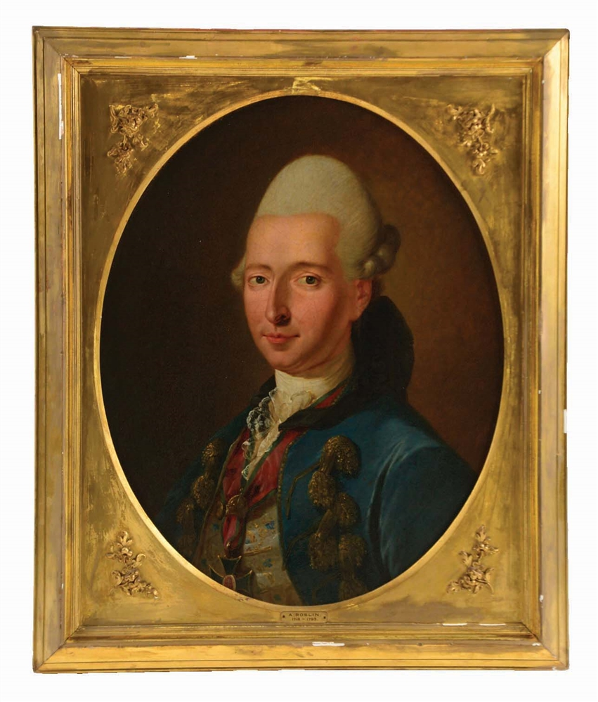 ATTRIBUTED TO ALEXANDER ROSLIN (SWEDISH, 1718 - 1793) PORTRAIT OF A NOBLEMAN.
