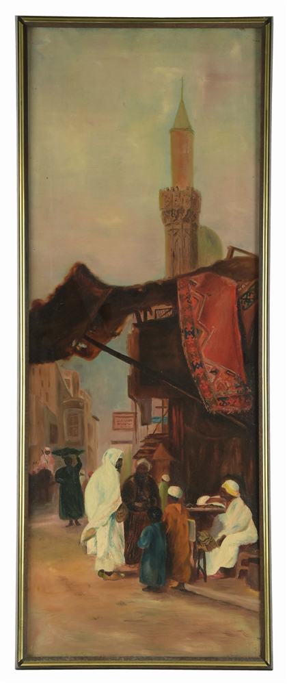 MANNER OF HERMANN CORRODI (EARLY 20TH CENTURY) ORIENTALIST MARKET SCENE.