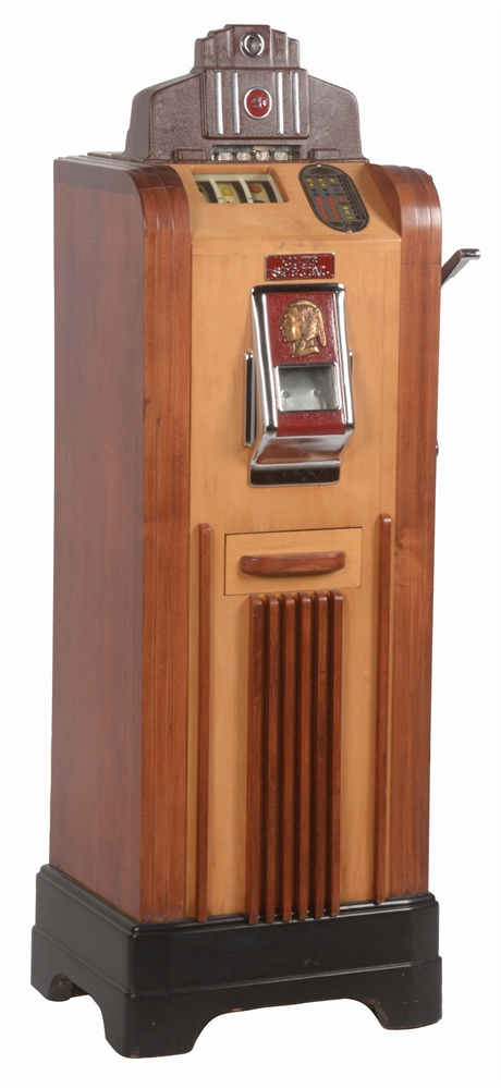5¢ JENNINGS CLUB SPECIAL CONSOLE SLOT MACHINE.