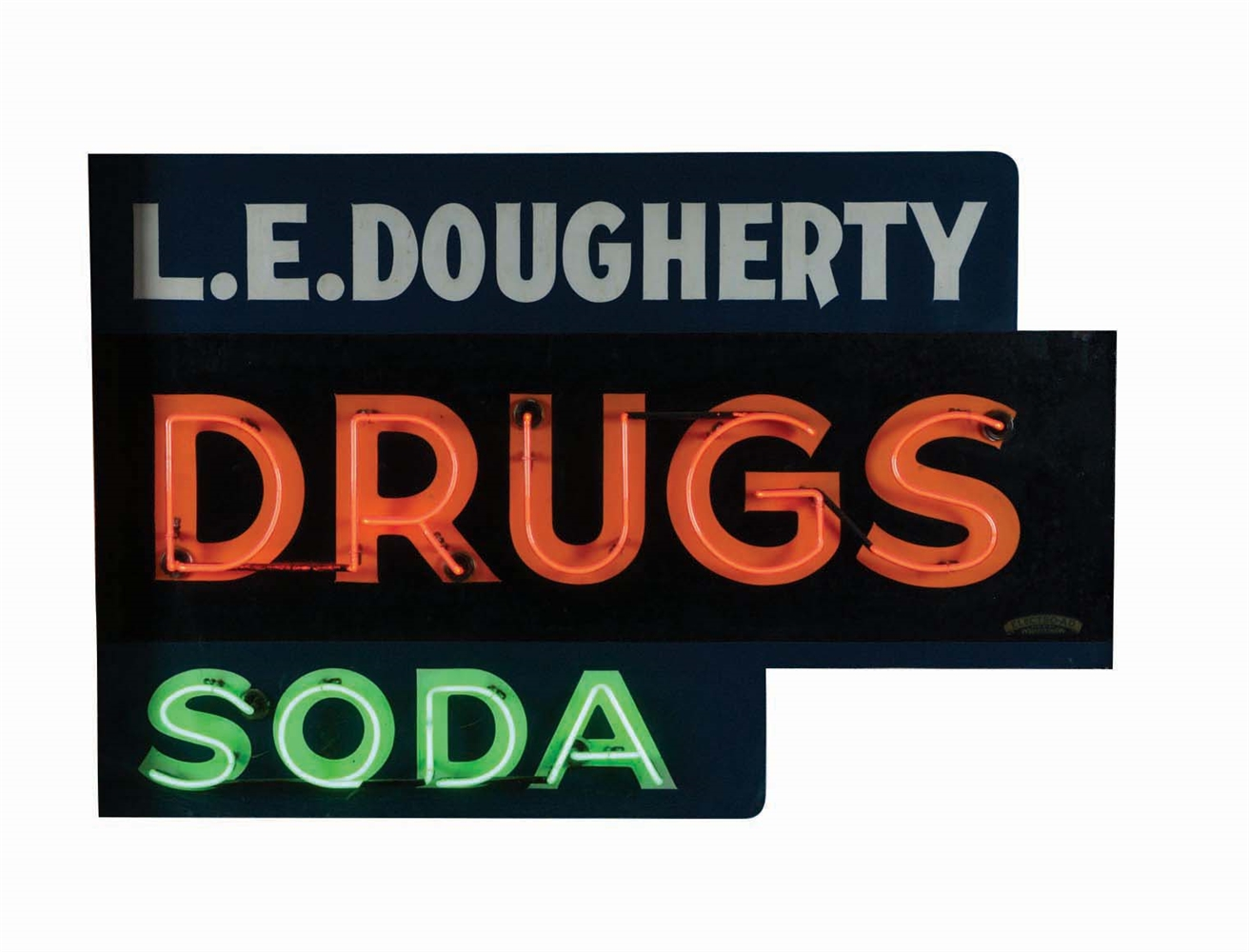 DRUGS AND SODA NEON SIGN.