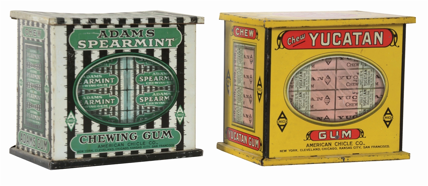 LOT OF 2: YUCATAN AND ADAMS GUM TINS.
