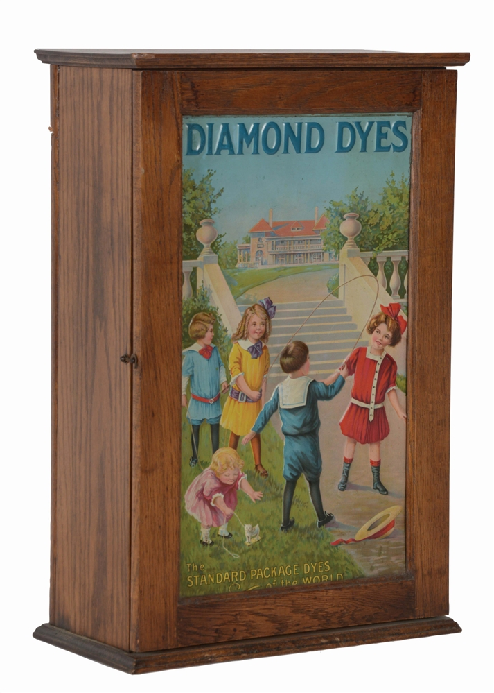 "DIAMOND DYES ""MANSION"" COUNTERTOP DISPLAY CABINET."