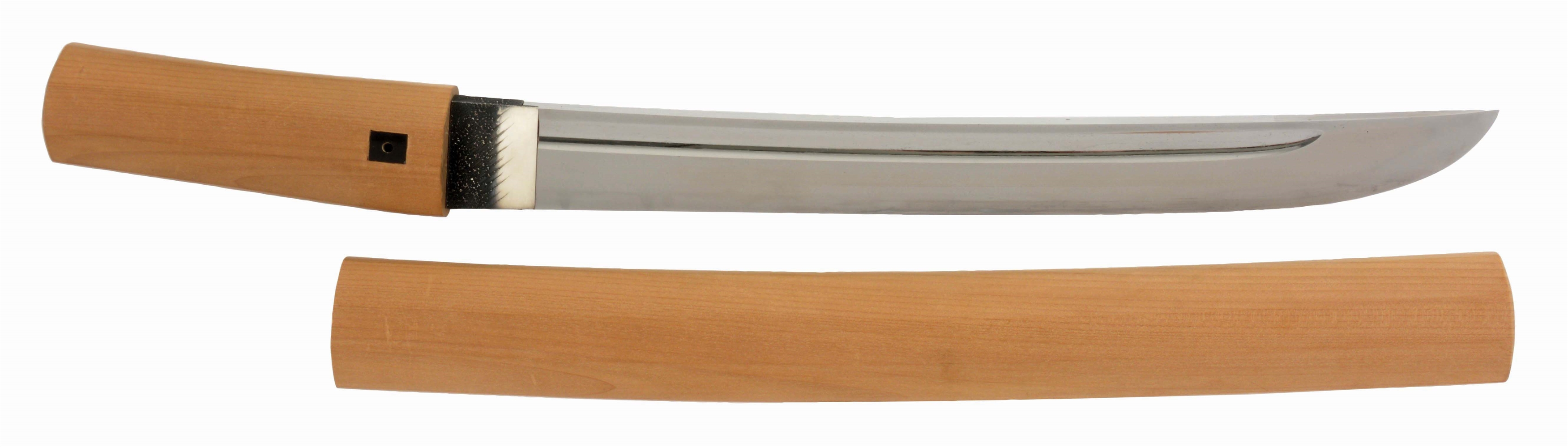 A MASSIVE AND MOST ATTRACTIVE SHINTO O-TANTO BY KANE TANE RATED CHU JOSAKU WITH NBTHK PAPER.