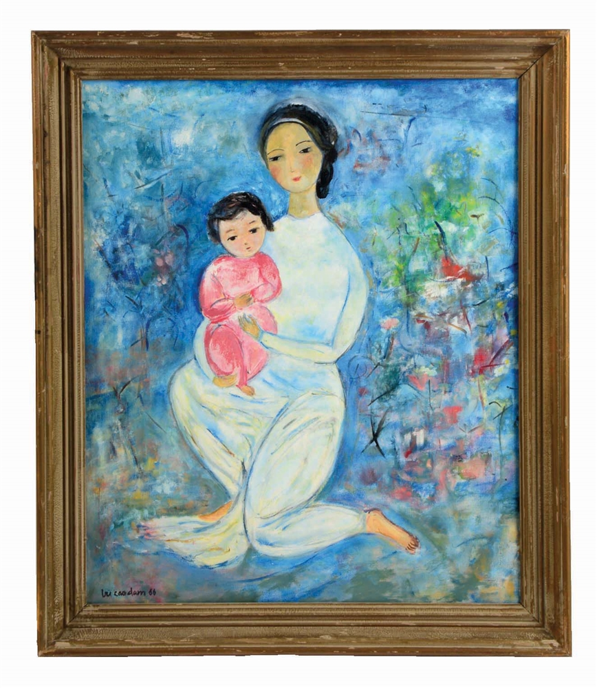 IN THE STYLE OF VU CAO DAM (VIETNAMESE, 1908 - 2000) MERE ET ENFANT, 1966.