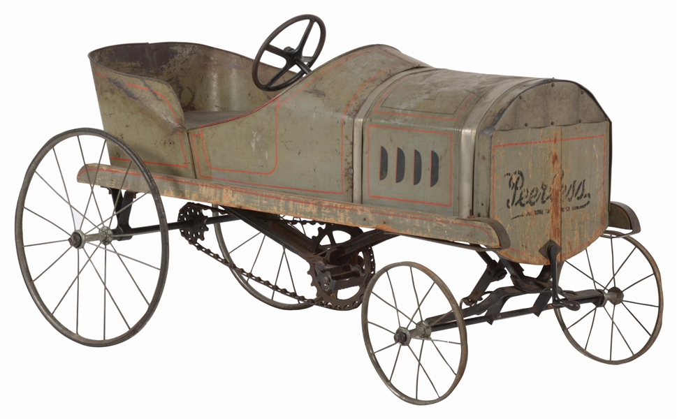 EARLY PRIMITIVE SINGLE RIDER PEDAL CAR.