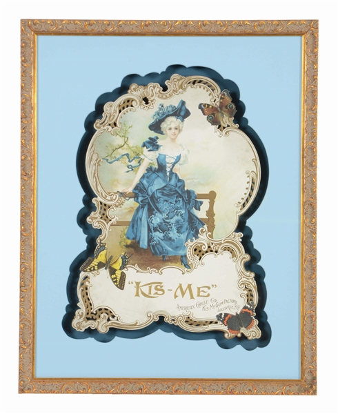 "AMERICAN CHICKLE CO. ""KIS-ME"" FRAMED DIE-CUT."