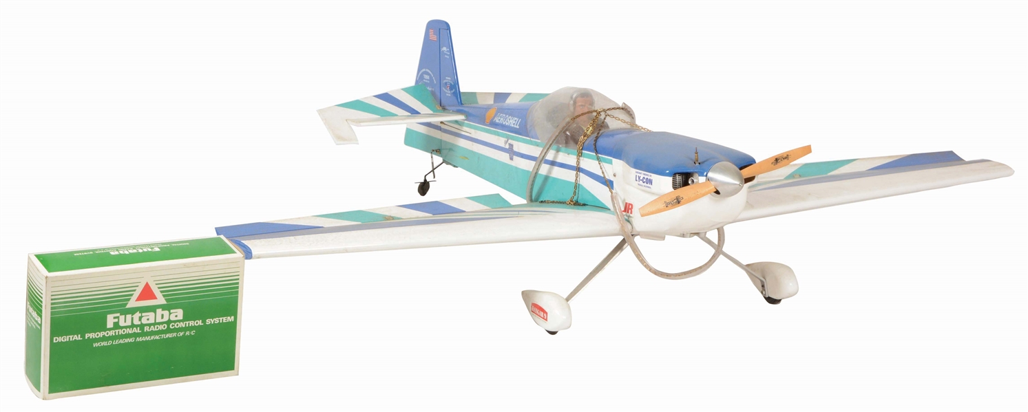 AEROSHELL RADIO CONTROLLED PLANE AND CONTROLLER.
